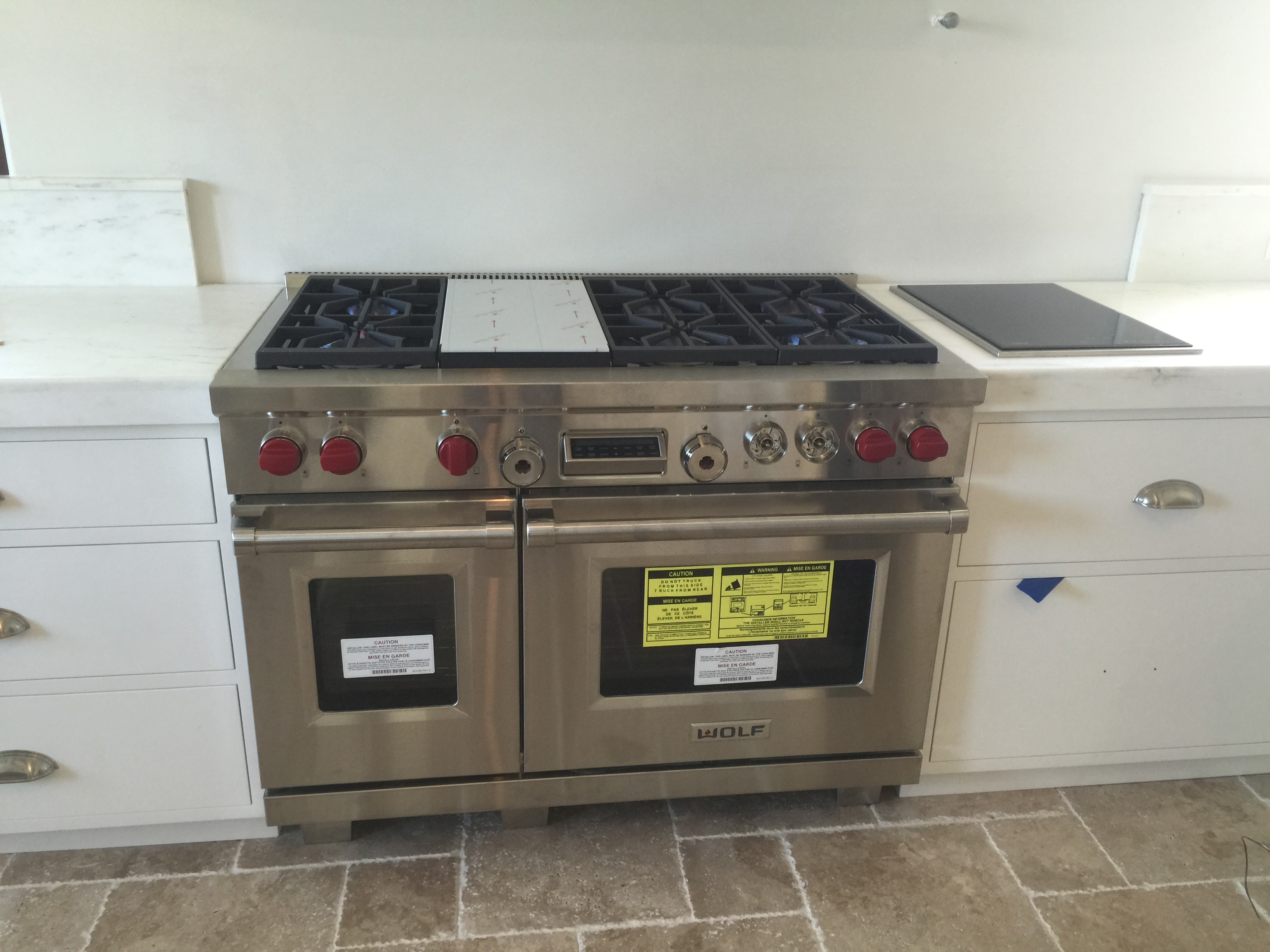 Gas range installation and conversion