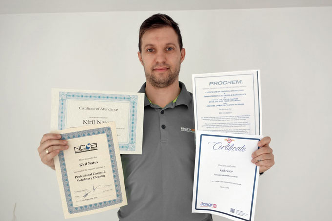 carpet cleaning certificates