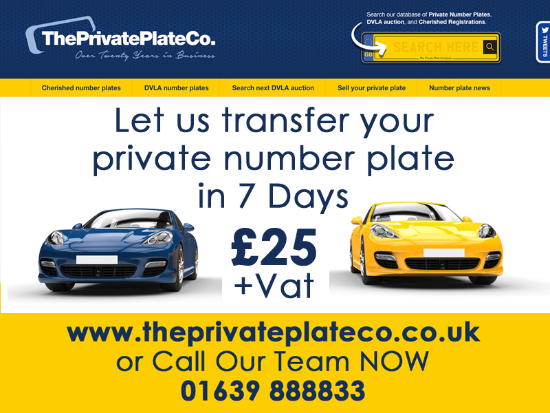 transfer private number plate