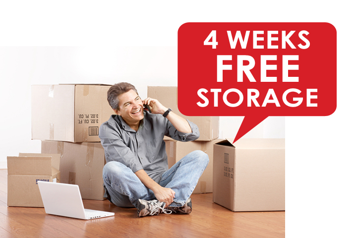 4 weeks free storage