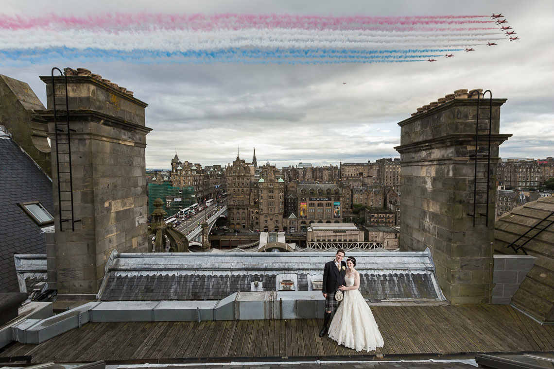 Love Wedding Photos And Film Newlywed Couple Red Arrows