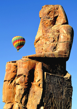 hot AIR BALLOON IN LUXOR EGYPT